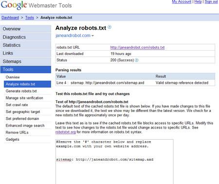 google-analyze-robotstxt